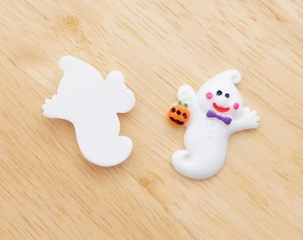 Baby Ghost 25mm x 33mm Flatback Cabochon Deco Resin Embellishments Scrapbooking Craft DIY Halloween - 1/5/20pcs