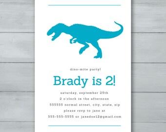 Tyrannosaurus Rex Birthday Invitation  |  T Rex Birthday Invite  |  Dinosaur Birthday Invitation