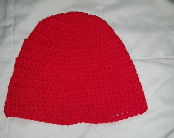 Red Crocheted Hat