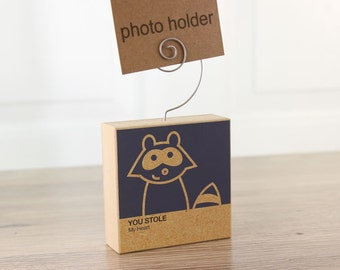 Photo Holder Raccoon Clever Critter