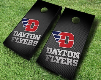 Officially Licensed Dayton Flyers Slanted Cornhole Set With Bags