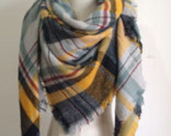 NEW* Super soft scarf - black,red,blue,grey and yellow.