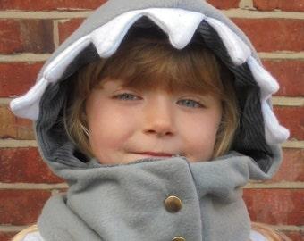 6 months - Adult- Shark - Cowl Hood -
