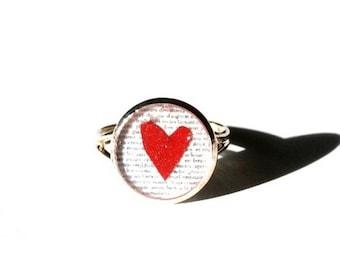 HEART RING - heart Jewelry - tiny ring - Fun earrings - valentines ring -  romantic Earrings - Kids Jewelry - Kids ring - besties ring