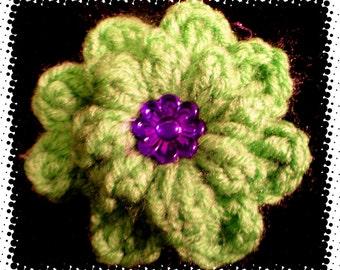 Flower Brooch or Hair Clip
