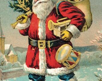 Cavallini Vintage Santa Wrap Paper