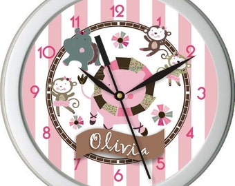 "Tu Tu Cute Personalized 10"" Nursery Wall Clock"