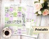The Green Descent Wochen Kit - Sticker für Vertical Erin Condren Life Planner zum ausdrucken (Download - Printable )