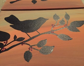 Bird Collection - Branch and Berries
