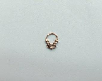 Wisdom Rose Gold 16G Septum Ring