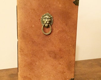Leather Journal Handmade With Lion
