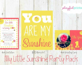 You Are My Sunshine Party Pack, Digital Download