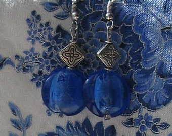 Royal Blue earrings.