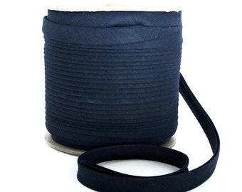 Double Fold Bias Tape / Navy Bias Tape