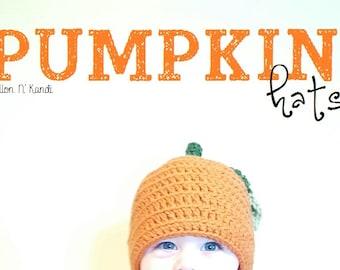 Pumpkin Hat: Crochet Orange, Newborn, Photography Prop, Halloween Costume, Baby, Adult