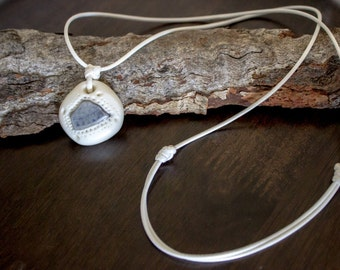 Reclaimed Beach Pottery Necklace - NO METAL