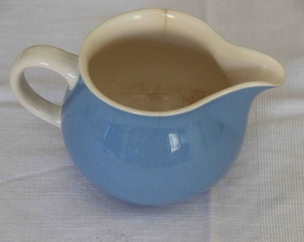 Blue vintage Villeroy & Boch milk jug