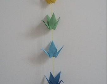 Cranes origami wreath
