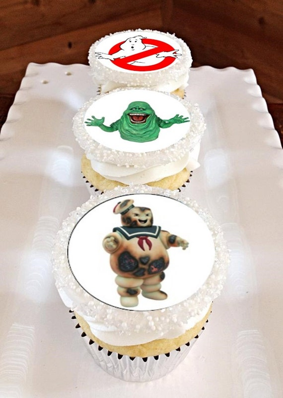 12 Edible Ghostbusters Cupcake Toppers by RandysFunShop on ...