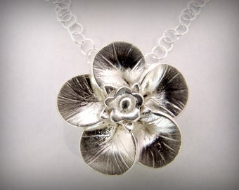 Necklace - Forget Me Not Flower Silver