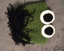 Handmade Incredible Hulk Crocheted Hat