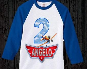 Disney Planes Birthday Shirt - Raglan Available