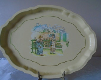 Kate greenaway enamel tray