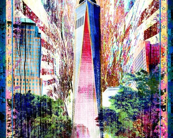 Freedom Tower Art Print, New York art, NYC Art, New York City, Big Apple