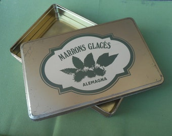 TIN BOX Marrons Glaces-ALEMAGNA brand-Italy