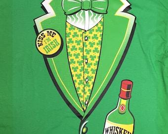 Irish Whiskey Tuxedo Tux T-Shirt