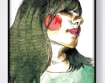 Nada (Ilustración original enmarcada Todxs Vosotrxs)