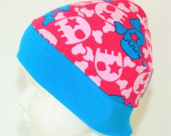 "Great handmade hat ""girly skulls"""