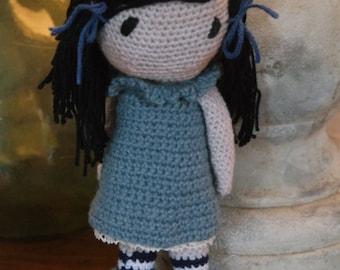 GISELLE,  Amigurumi, Crocheted Doll, Handmade Doll,