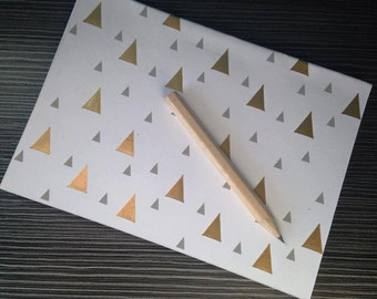 Gold Triangle A6 'Perfect Bound' Notebook Journal