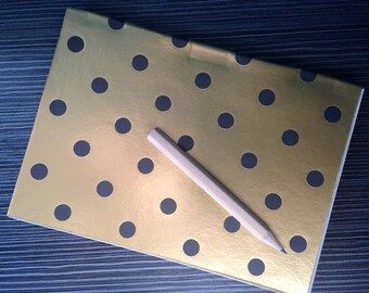 Black and Gold A6 'Perfect Bound' Notebook Journal