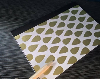 Gold Teardrop A6 Handsewn Notebook Journal