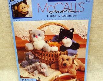 Misc NeedleworkCrafts, McCalls Creates Hugs And Cuddles, Vintage