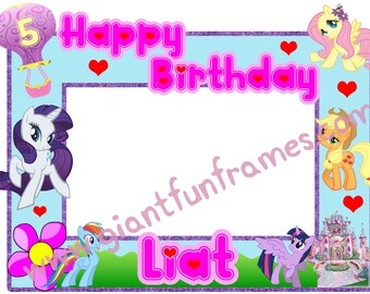 My little Pony Frame / Photo Booth / Photo Prop Digital File