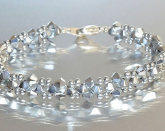 Swarovski crystal bracelet made crystal comet silver light 2x