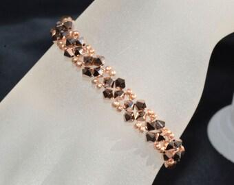 Swarovski crystal bracelet fine crystal rose gold 2x