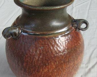 Large Loop Handled Vase