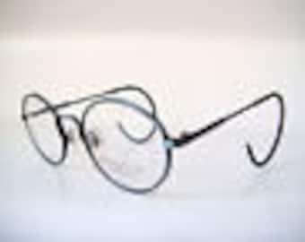 Activity Mens 46-18 Small Eyeglass Glasses Frame round Lennon Sport Teal green