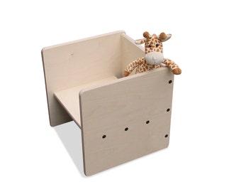 Children turn stool stool MAXI-2mount-natural -.