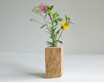 """Unique, decorative wood vase - nature Pur-""""Woody"""""""