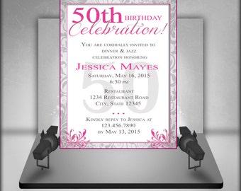 50th Birthday Party Invitation