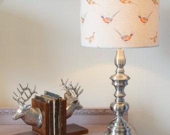 Handmade Pheasant Lampshade