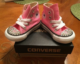 Bedazzled converse sneakers for Toddlers