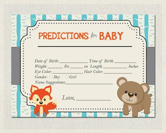 Predictions for Baby Cards Boys / Girls Gender Neutral ...