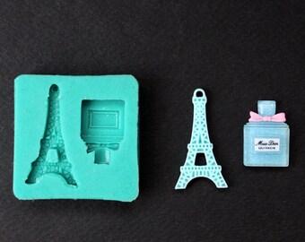 Eiffel Tower Silicone Mold Perfume Mini Silicone Mold Paris Sugarcraft Cake Decorating Fondant fimo mould
