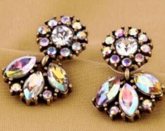 Bridal Crystal Earrings, Bridal Statement Earrings, Crystal Earrings, Bridesmaid Earrings, Bridesmaid Gift Earrings, Statement Earrings